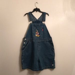 Disney Mickey Unlimited Vintage Overall Shorts XL